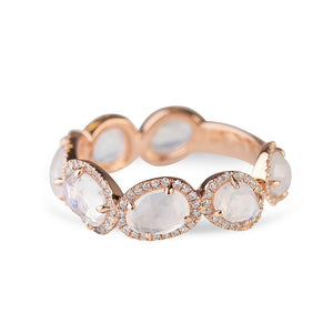 MOONSTONE AND DIAMOND ETERNITY BAND