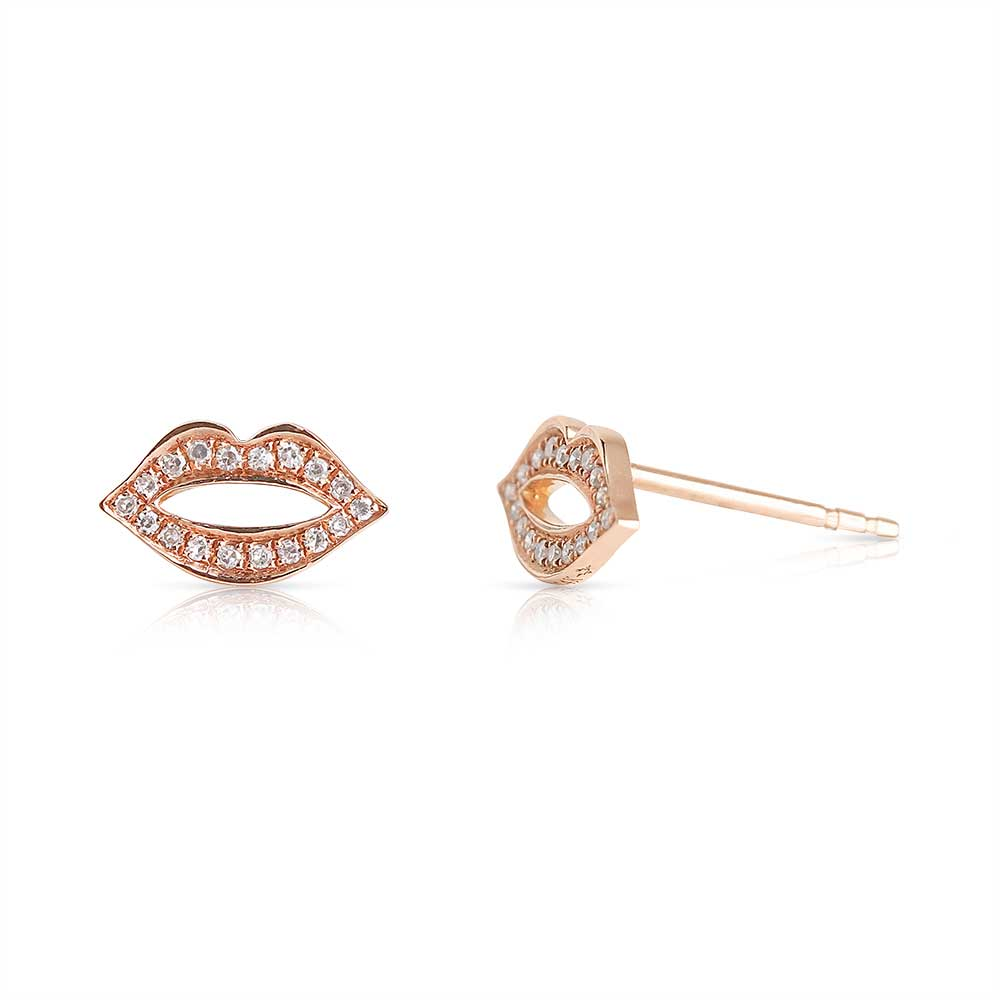 PAVÉ DIAMOND LIP EARRINGS
