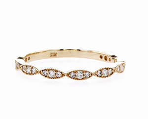 SAMANTHA GOLD AND DIAMOND RING