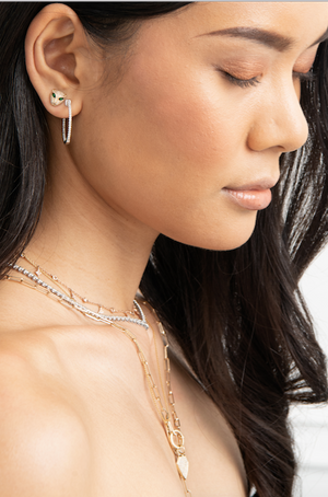 ANNA CLASSIC DIAMOND HOOPS