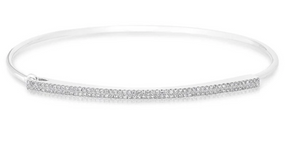 IN STOCK  - DIAMOND DOUBLE BAR LATCH BRACELET