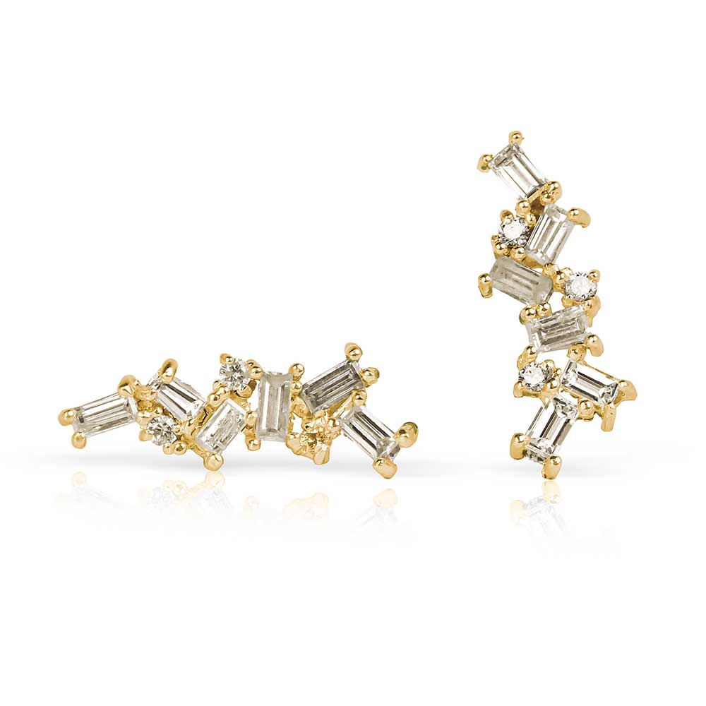 BAGUETTE CHAOS CLIMBER EARRINGS