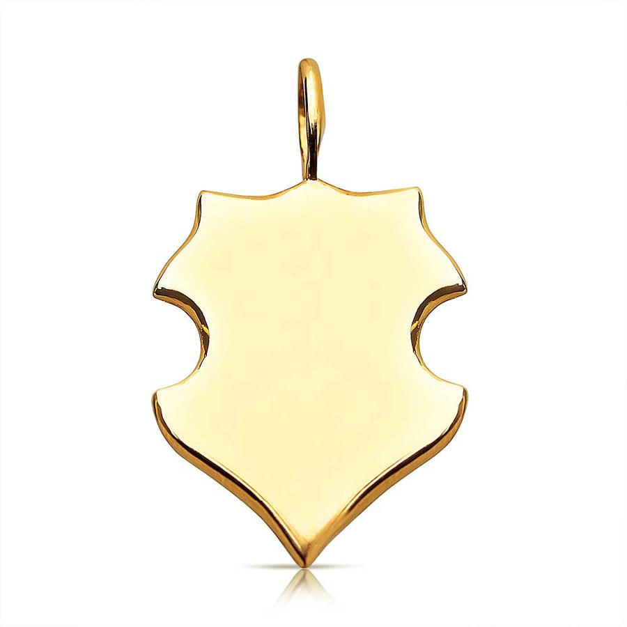 14K SOLID GOLD PERSONALIZED SHIELD CHARM