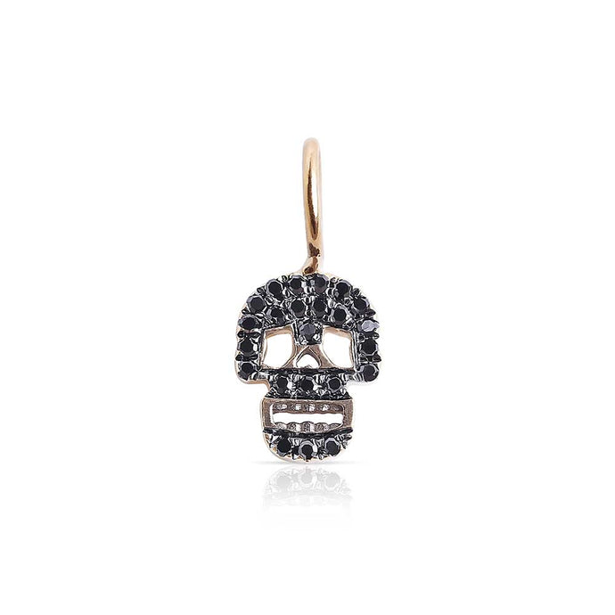 Black Diamond Skull Charm