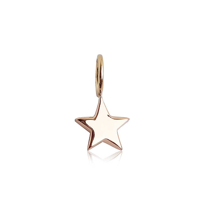 Solid Gold Star Charm