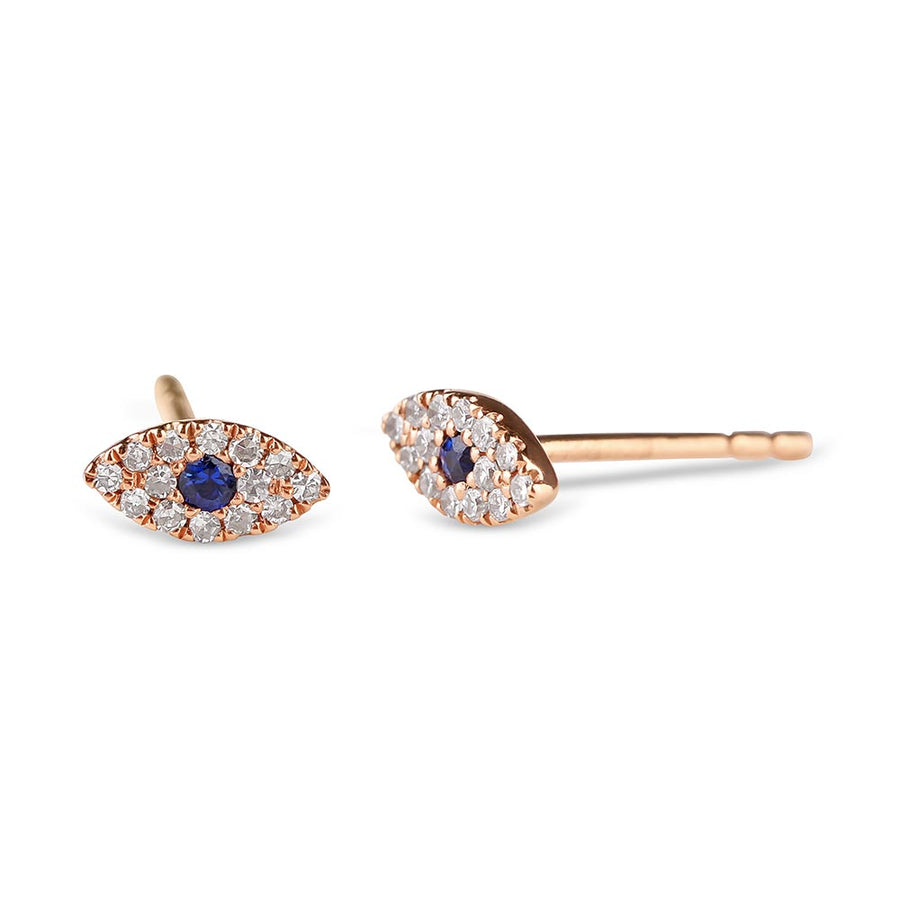 DIAMOND EVIL EYE EARRINGS