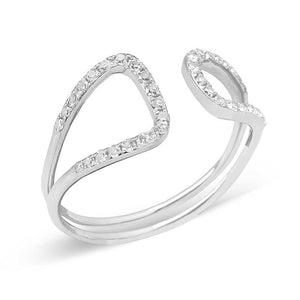 OPEN OFFSET DIAMOND RING