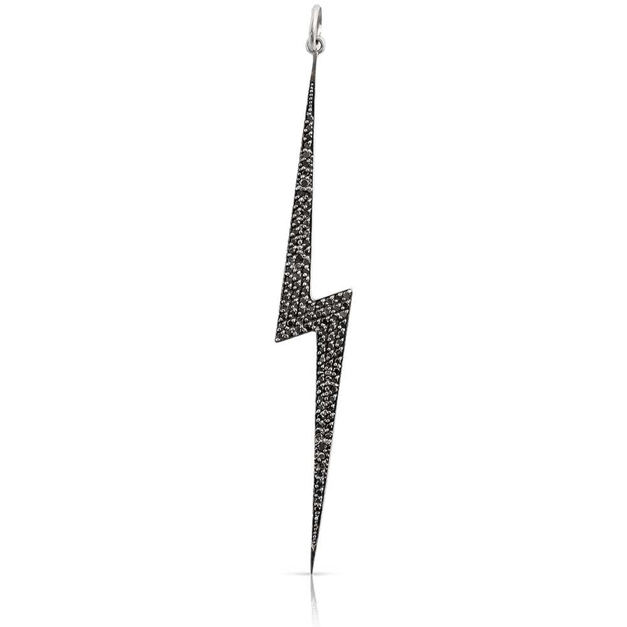 IN STOCK - BLACK DIAMOND LIGHTNING BOLT CHARM
