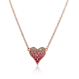 SMALL OMBRE HEART NECKLACE