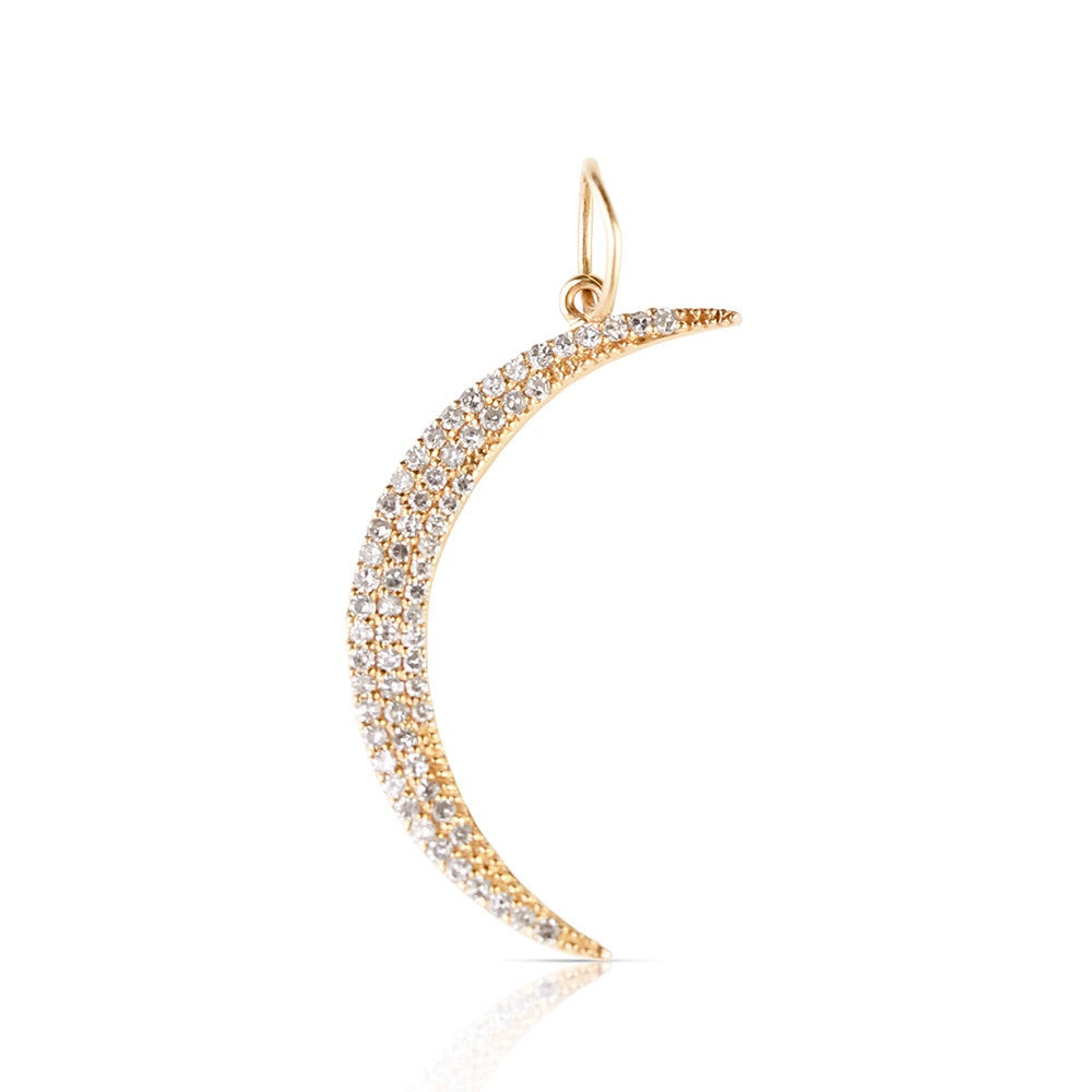 DIAMOND CRESCENT MOON CHARM