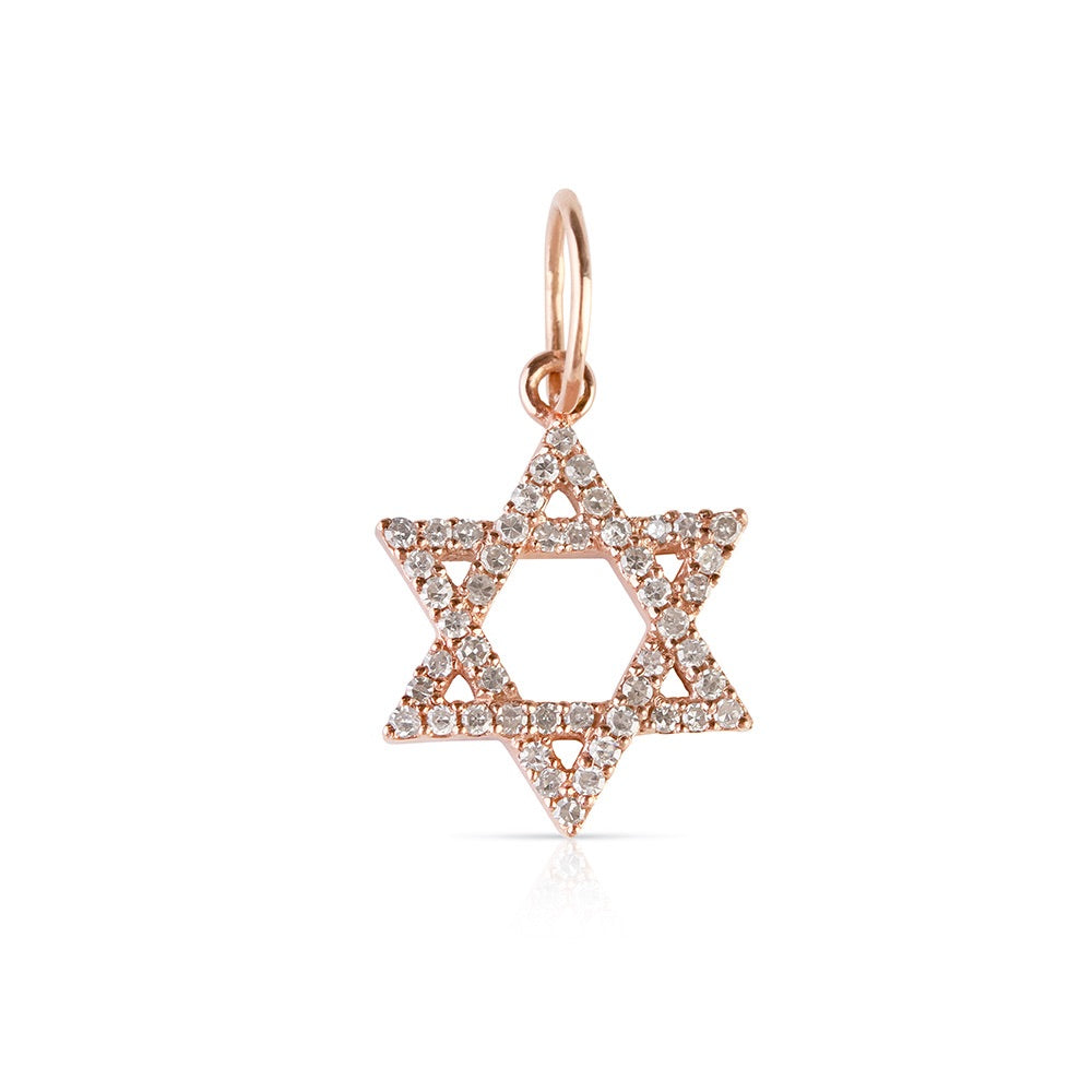 MINI DIAMOND STAR OF DAVID CHARM