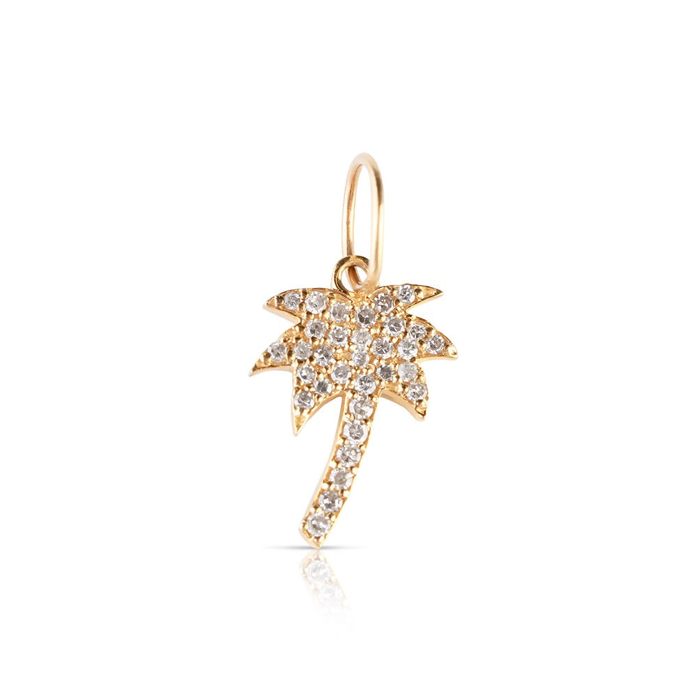 IN STOCK- MINI DIAMOND PALM TREE CHARM