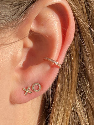IN STOCK - DIAMOND XO EARRINGS