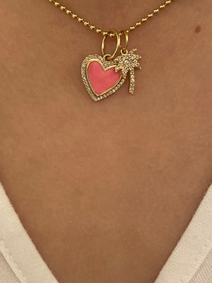 MINI DIAMOND PALM TREE CHARM