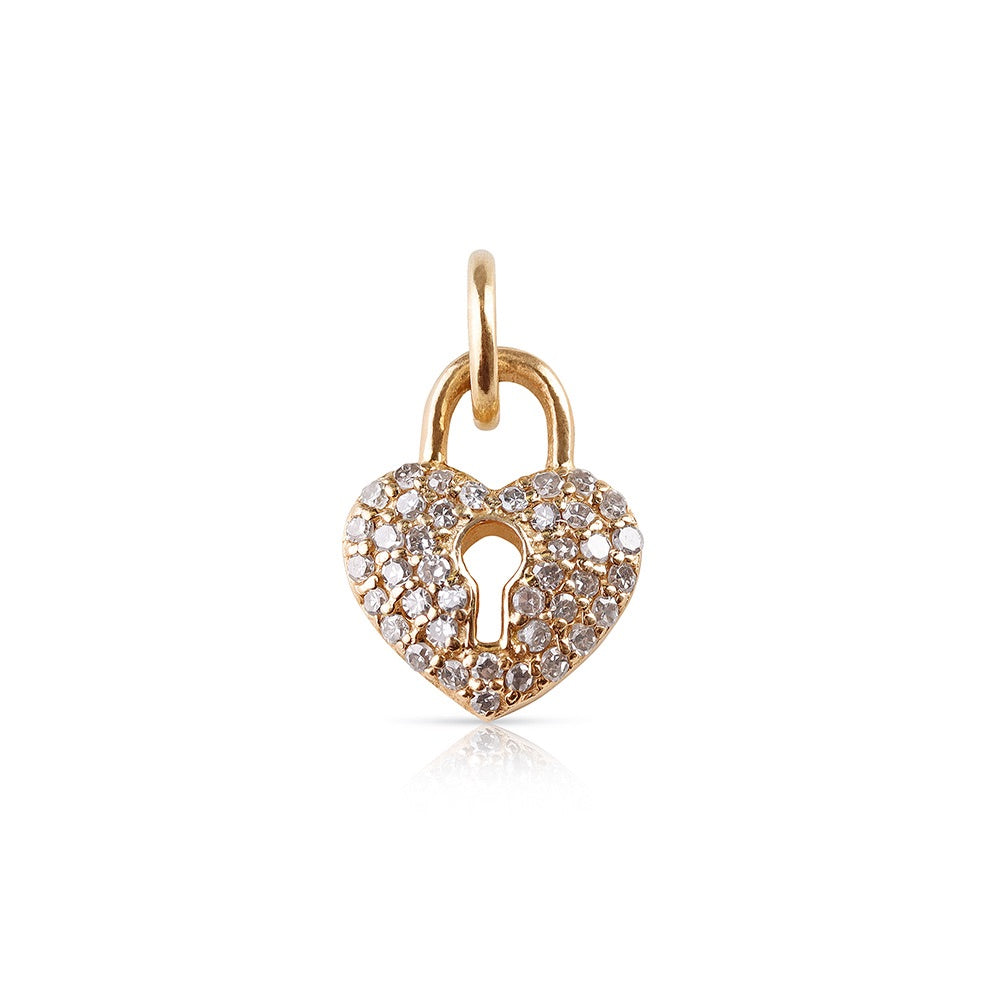 MINI DIAMOND LOVE LOCK CHARM
