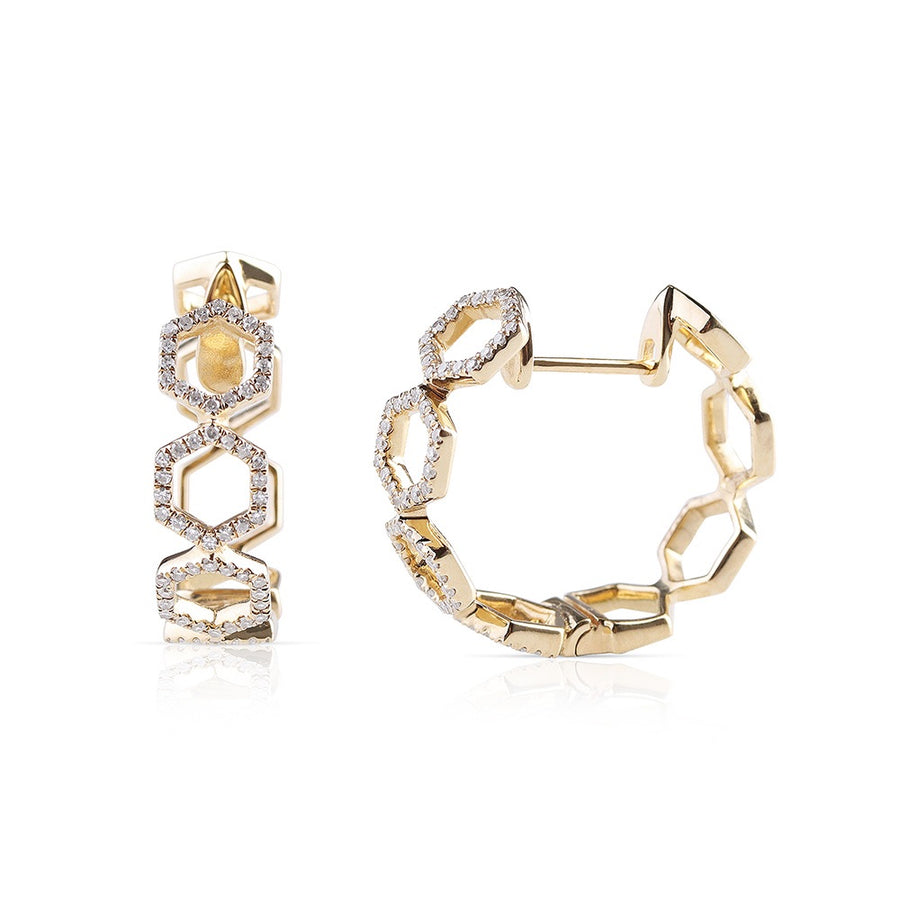 DIAMOND CHAIN LINK HOOPS