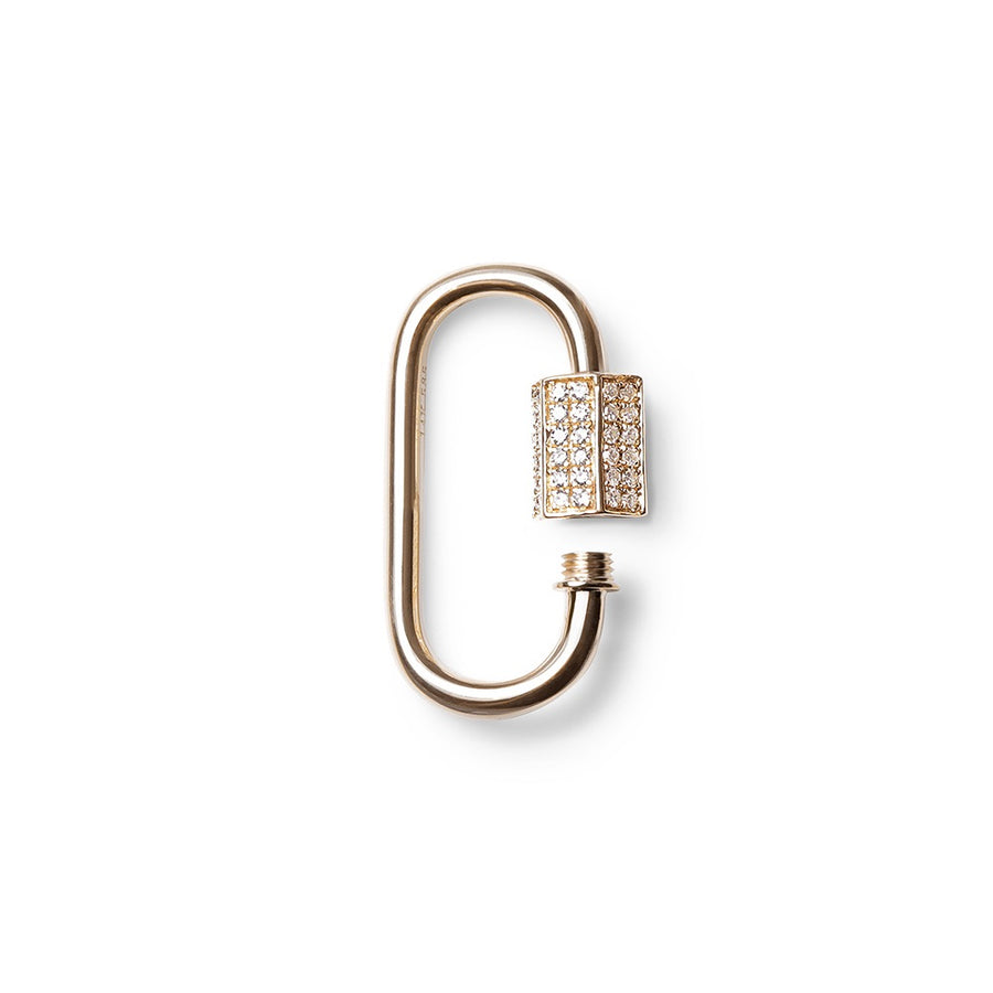 CARABINER LOCK WITH HEXAGONAL DIAMOND CLASP