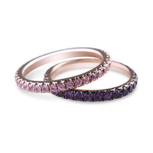 PINK SAPPHIRE ETERNITY BAND STACKING RING