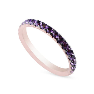 14K GOLD AND AMETHYST ETERNITY BAND