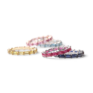 RUBY BAGUETTE ETENITY STACKING RING