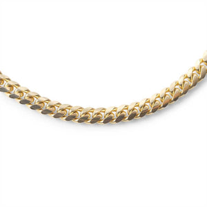 14K SOLID GOLD CURB LINK CHAIN (3.50MM)
