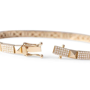PYRAMID DIAMOND STUD BRACELET