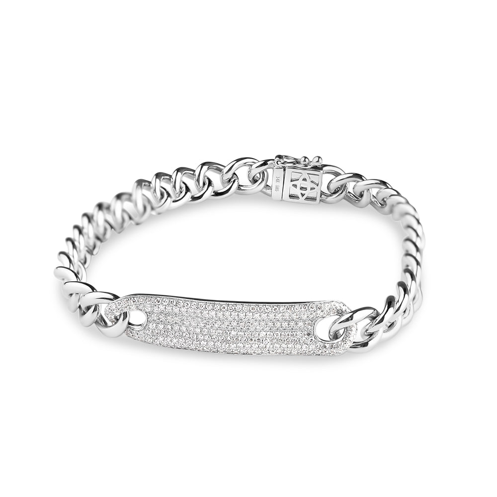 DIAMOND ID CHAIN LINK BRACELET