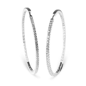 NICOLA DIAMOND HOOPS
