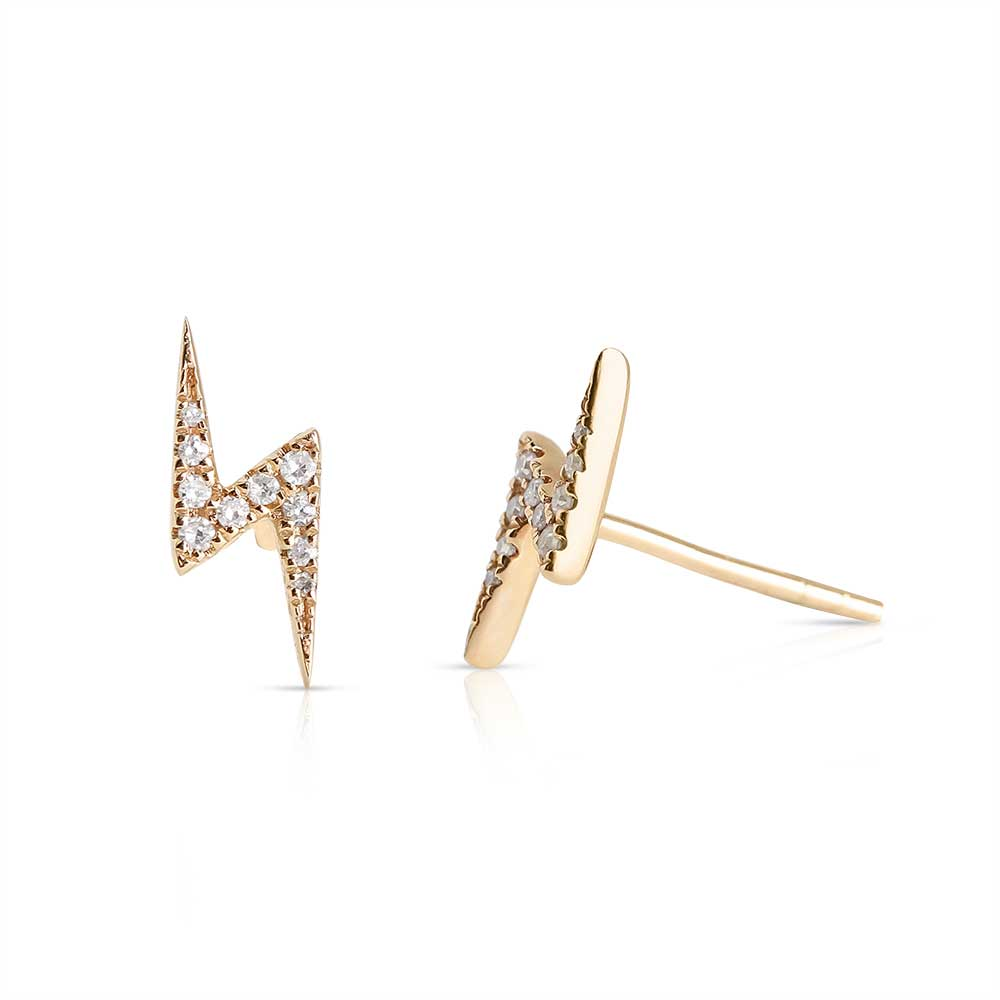 DIAMOND LIGHTNING BOLT EARRINGS