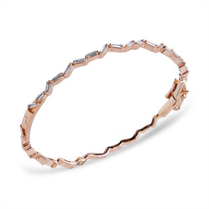 ZIG ZAG BANGLE WITH BAGUETTE DIAMONDS