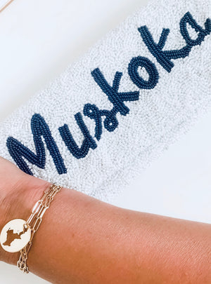 SOLID GOLD MUSKOKA LAKES BRACELET WITH CUSTOM DIAMOND PLACEMENT
