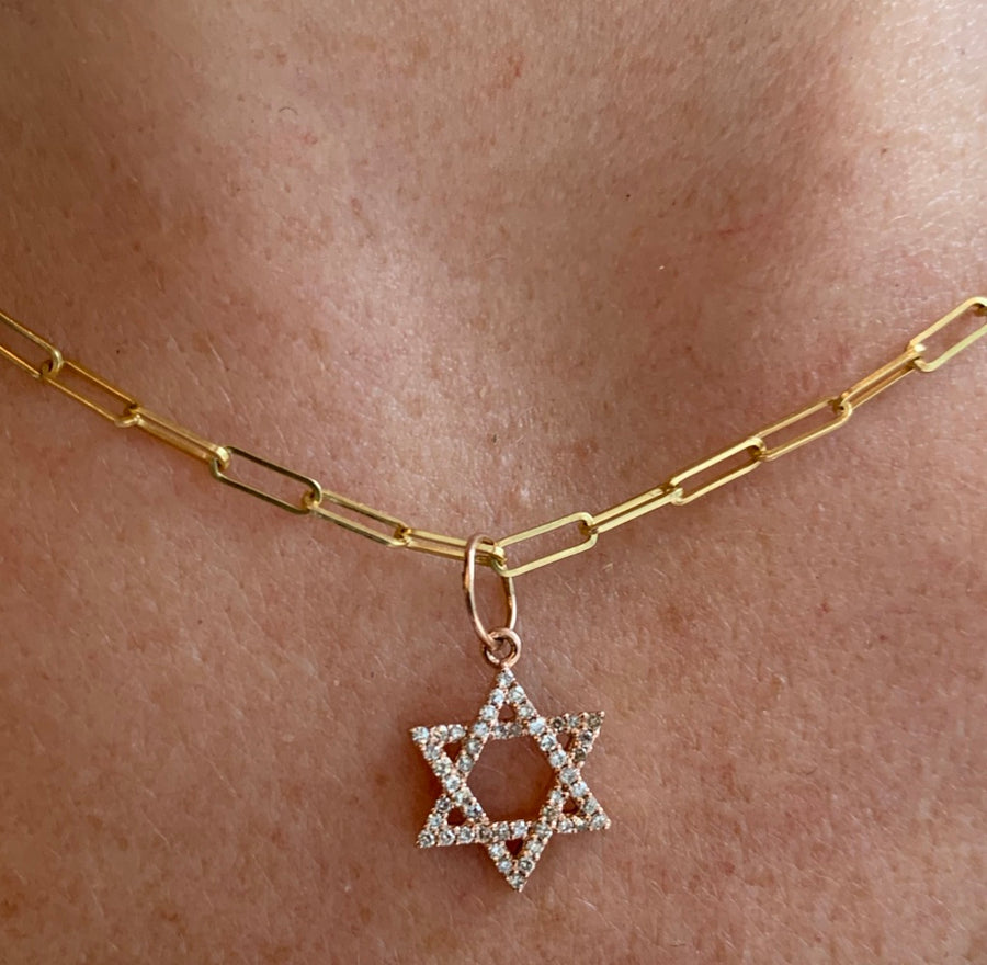IN STOCK-MINI DIAMOND STAR OF DAVID CHARM