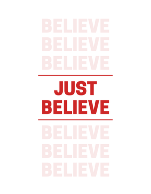 JUST BELIEVE Self Reflection Tees