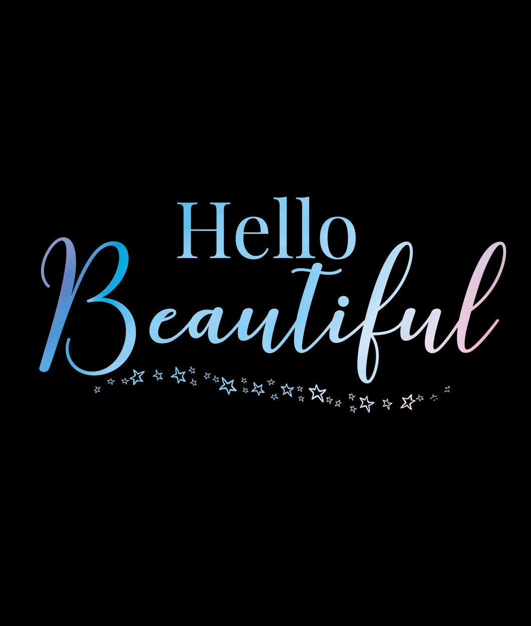 Hello Beautiful Self Reflection Tees Premium