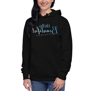 Hello Beautiful Self Reflection Tee Premium Hoodie