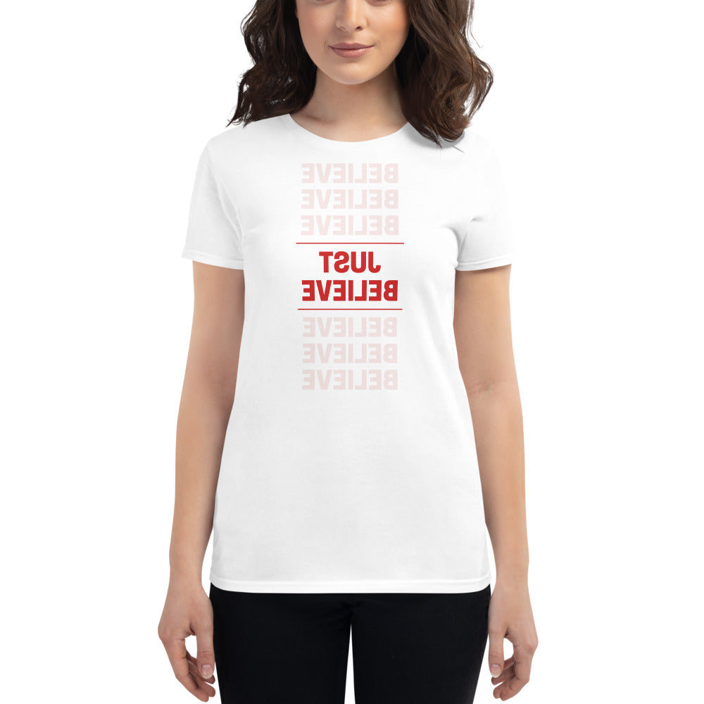 JUST BELIEVE Self Reflection Tees Premium Womens T-Shirt