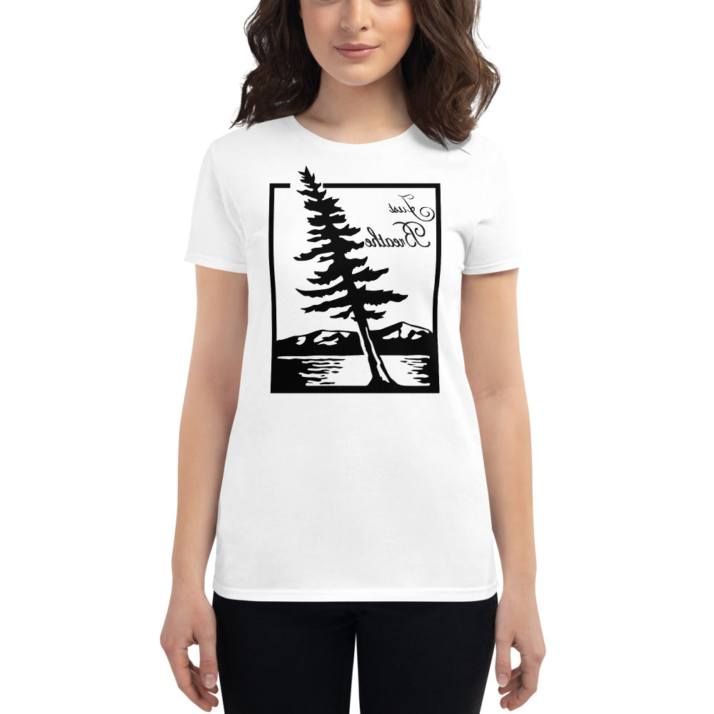 JUST BREATHE Self Reflection Tees Premium Womens T-Shirt