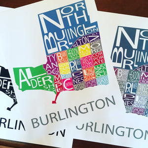 MAP2 Map of Burlington Print
