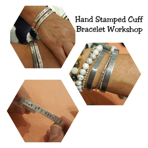 Handstamped Cuff Bracelet Workshop