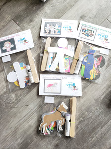 DIY Kit - Paper Puppet Kit Set of 6