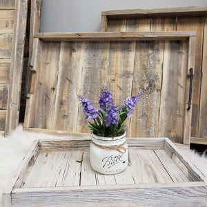 wood trays white washed farmhouse decor