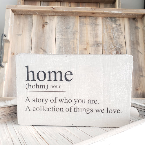 Definition Box Sign Home Dog Cat or Family