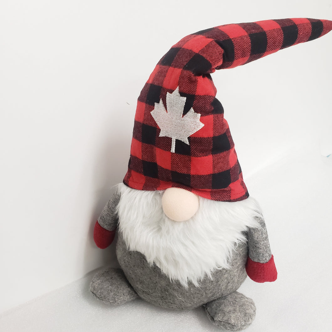 Canada Maple Leaf Christmas Gnome