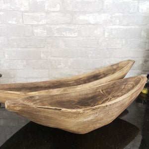 Wooden Dough Bowl Boat 2 Sizes
