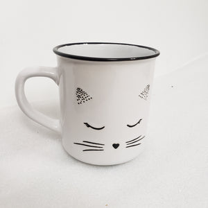 Cat Face Ceramic Mug