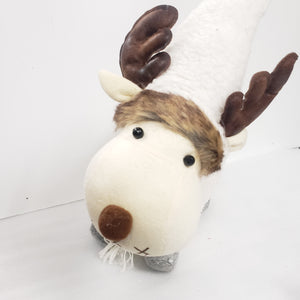 Standing Christmas Moose with White Hat