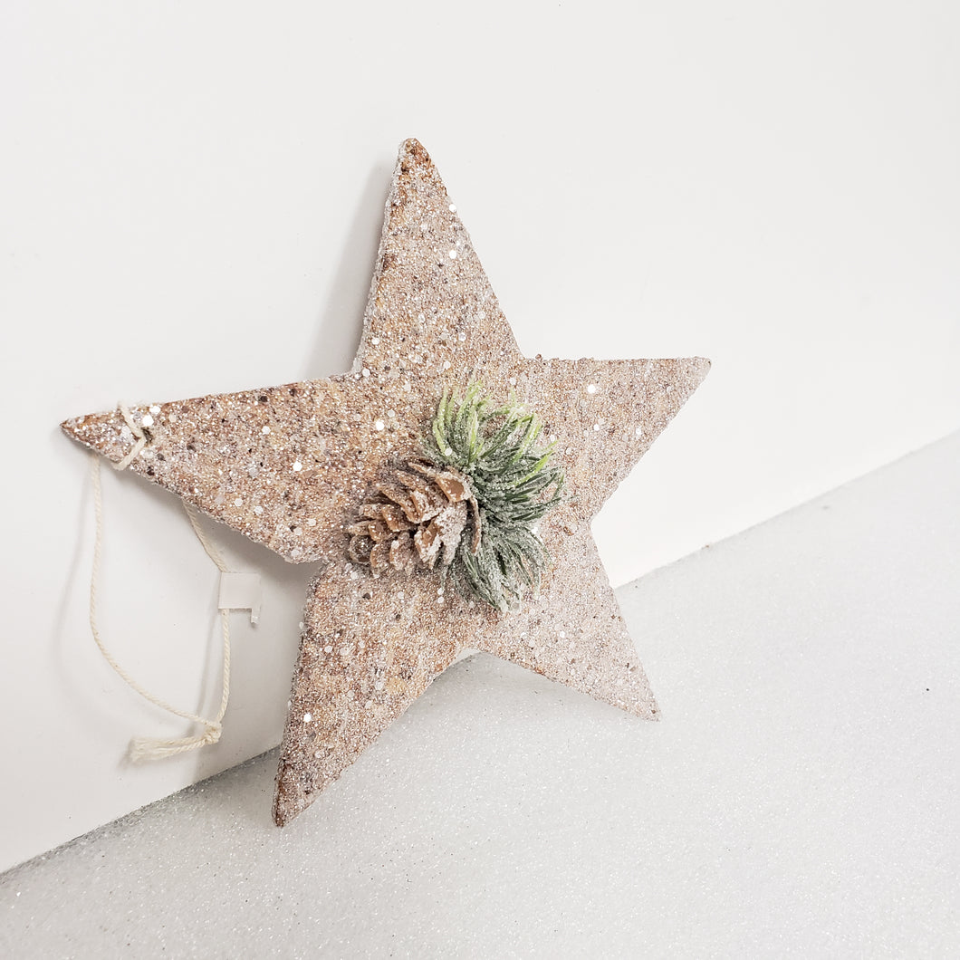 Star Christmas Ornament With Pinecone