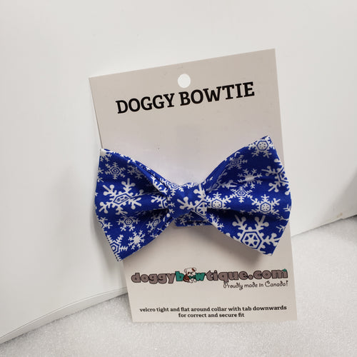 Doggy Bowtie - Blue and White Snowflake HIT 2