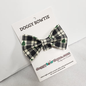 Doggy Bowtie -White and Black Christmas Tree HIT 2