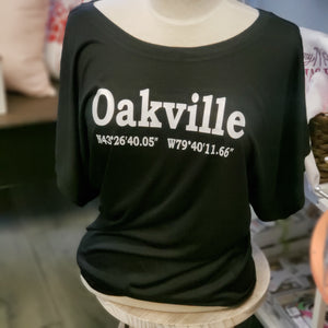 Oakville Flowy Shirt - White Text